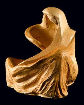 Sculpture, terre cuite, argile, patinée, poétique, ethnique, suggestif