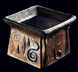 vase, argilepot, raku, céramique, décoration, sculpture, ethnique