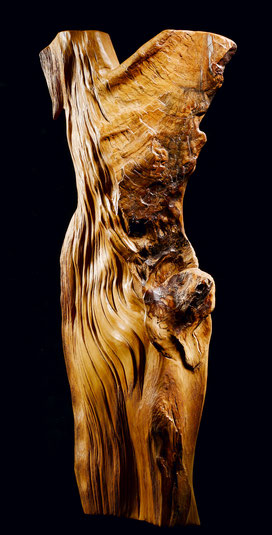 Bois sculpté ciré