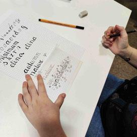 """Entwurf einer Teilnehmerin des Schriftzuges """"Wanderlust"""". Ganz mein Geschmack!"""