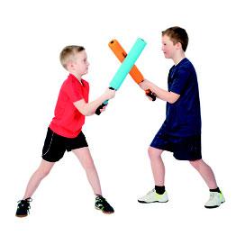 Combat de kendo avec batte en mousse de kendo combat pour enfants.