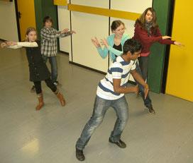 Schüler proben für das Musical