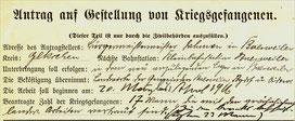 Gemeinde Baesweiler fordert Kriegsgefangene an.