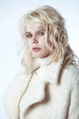 Fashion portrait of a blonde model