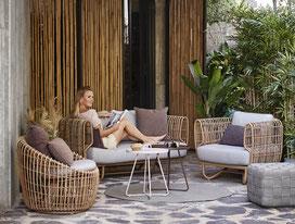 Nest Garten-Lounge von Cane-line