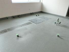 施工事例2461 築地魚河岸 場内床防塵塗装工事