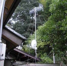 富岡市S様宅地デジ+BSアンテナ移設設置