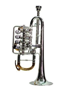 Hoch B/A Trompete Silber/teilvergoldet