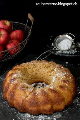 Apfelgugelhopf, Apfelkuchen, Apfelring, Rezept Gugelhopf, Foodblog Schweiz