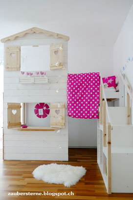 DIY Blog Schweiz, Kreativblog Schweiz, Familienblog Schweiz, Hochbetthaus, Hochbetthaus selber machen, Kinderbetthaus, Kinderhaus selber machen