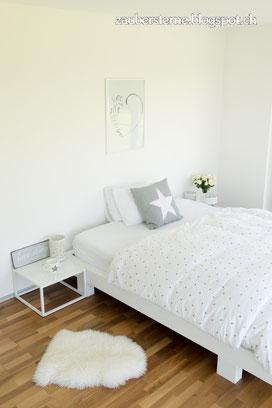 Emma Matratze, Interior Blog Schweiz, Schlafzimmer DIY, Bett anmalen, Bett streichen