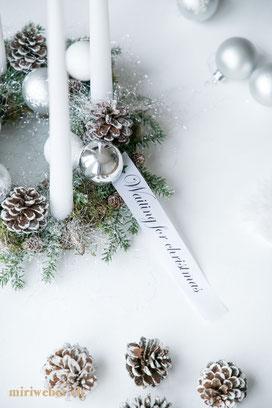 Adventskranz selber machen, Weihnachts Dekoration, einfach, DIY, Anleitung, schnell, waiting for christmas, Lettering, Weihnachten, Christmas