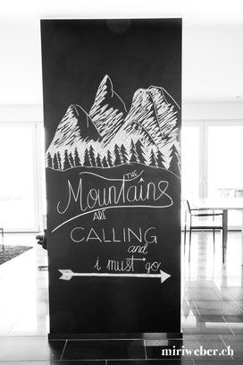 chalkboard, kreidetafel, selber machen, diy, kreativblog, the mountains are calling, kreide, chalk