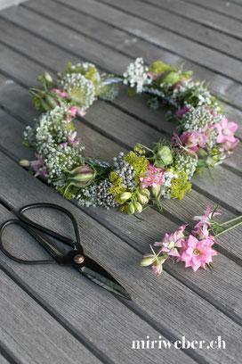 Blumenkranz selber machen, Kreativblog Schweiz