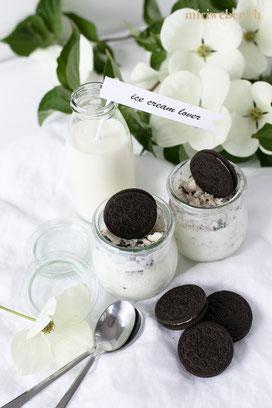 Oreo Glace, Oreo Rezept, Oreo Icecream, Oreo Eis, Eis selber machen, Experiment, Salz auf Eis, Oreo Food, easy recipe
