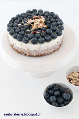 Heidelbeerquarktorte, gesunde Quarktorte, Rezept, gesunder Kuchen, Frühstückskuchen, Foodblog Schweiz
