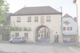 Das Würzburger Tor in Thüngersheim