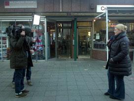 Redaktioneller Beitrag des Hamburg Journals/ NDR am  26.11.13 und 23.12.13 über den Abriß der Geschäftszeile in der Gertigstraße und über das Bildwerk-Rohr