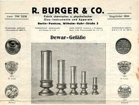 Briefkopf nach 1927, Fa. R. Burger & Co.
