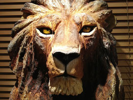 Sculpture Lion par Willy Niodo
