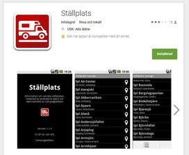 Eine App mit Koordinaten für schwedische Stellplätze.