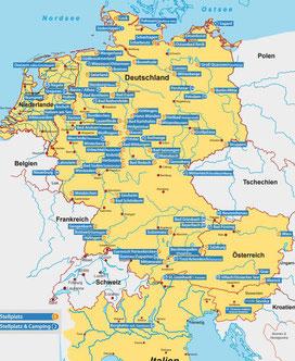 Camping-und Stellplätze in Deutschland