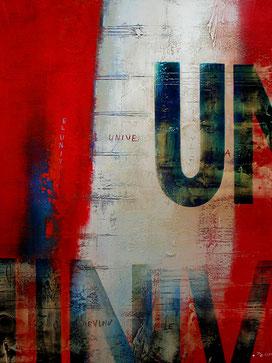 Carole Bécam - Artiste peintre - Série Des Lettres - Universel