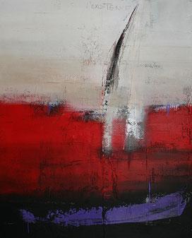 Carole Bécam - Artiste peintre - Série Des Lettres - Dialogue sur l'existence