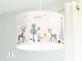 Lampe Kinderzimmer Waldtiere Fuchs Bär aus Bio-Baumwollstoff - alle Farben möglich