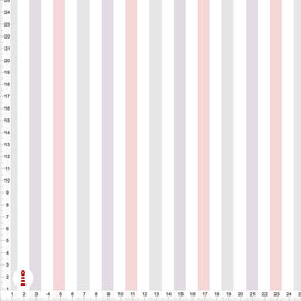 Stoff gestreift Babyzimmer Altrosa Flieder Grau aus Baumwolle zum Nähen - alle Farben möglich