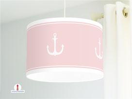 Lampe Anker Kinderzimmer Altrosa aus Bio-Baumwollstoff  - alle Farben möglich