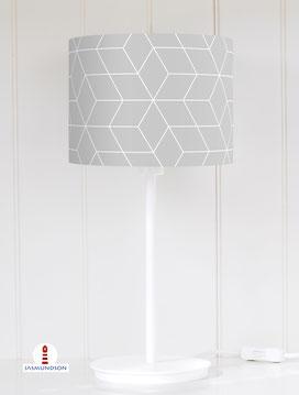 Lampenschirm für Tischlampe Muster skandinavisch aus Baumwolle - alle Farben möglich