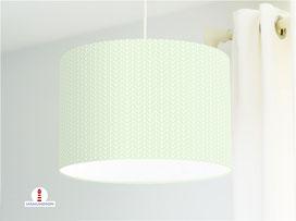 Lampe Strickmuster geometrisch Mintgrün aus Baumwollstoff - alle Farben möglich