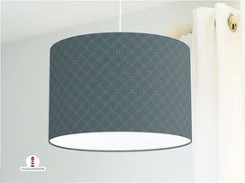 Lampe für Schlafzimmer mit Muster in dunklem Petrol aus Baumwollstoff - alle Farben möglich
