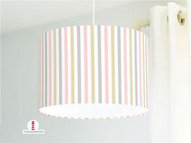 Lampe für Küche und Schlafzimmer mit Streifen aus Baumwolle - alle Farben möglich