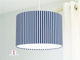 Lampenschirm für Kinderzimmer mit Streifen in Marineblau aus Baumwollstoff - alle Farben möglich