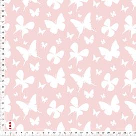 Stoff Kinderzimmer Mädchen Schmetterlinge Altrosa aus Baumwollstoff - alle Farben möglich