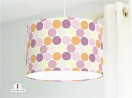 Lampe für Mädchenzimmer mit großen Punkten in Pastell aus Baumwolle - alle Farben möglich
