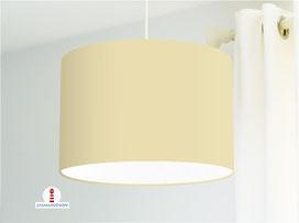 Lampenschirm in Beige einfarbig aus Baumwollstoff