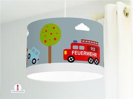 Lampe Auto Kinderzimmer aus Bio-Baumwollstoff - alle Farben möglich