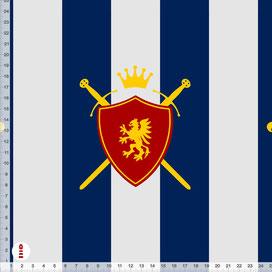 Bio-Stoff Kinderzimmer Junge Ritter Wappen Schild und Streifen aus Baumwollstoff - alle Farben möglich