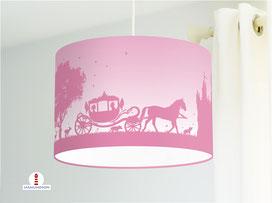 Lampe Kinderzimmer Prinzessin Altrosa aus Bio-Baumwollstoff - alle Farben möglich