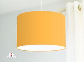 Lampenschirm in hellem Orange einfarbig aus Baumwollstoff - viele weitere Farben