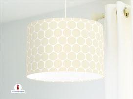 Lampe Kinderzimmer Punkte in Creme aus Baumwolle - alle Farben möglich