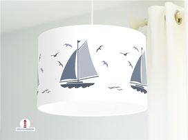 Kinderzimmer Schiff Lampe aus Bio-Baumwolle - alle Farben möglich