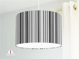 Lampe für Küche und Schlafzimmer mit Streifen Schwarz-Weiß aus Bio-Baumwolle - alle Farben möglich