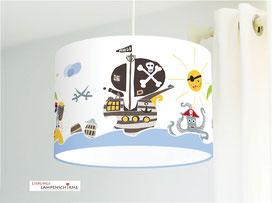 Kinderzimmer Lampe Piraten aus Bio-Baumwolle - alle Farben möglich