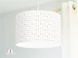 Lampe Kinderzimmer gepunktet Perlenkette in Pastell aus Bio-Baumwolle - alle Farben möglich