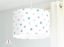 Lampe Kinderzimmer Baby Punkte aus Baumwollstoff - alle Farben möglich