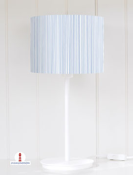 Lampenschirm für Tischlampe gestreift maritim aus Baumwolle - alle Farben möglich